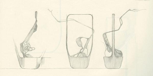 Duende pr ikebanamedula par benjamin graindorge pour - Dessiner un vase ...